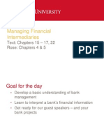 Managing Financial Intermediaries