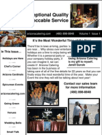 Arizona Catering Newsletter 1