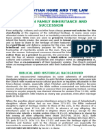 Christian Family Inheritance and Succession