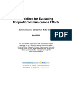 Guidelines for Evaluating Nonprofit Communications Efforts