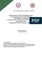 GI Asian Disability Forum Inauguration