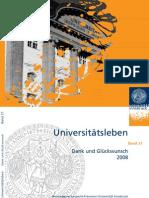 Dank und Glükwunsch 2008 - Universitätsleben Band 21