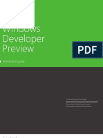 Windows Developer Preview-Windows8 Guide