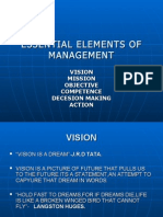 Essential Elements of Management