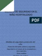 MEDIDAS DE SEGURIDAD EN EL NIÑO HOSPITALIZADO
