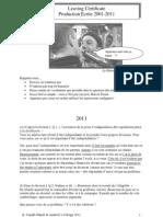 Production Écrite 2001-2011