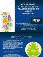 Vocabulary Development I-III