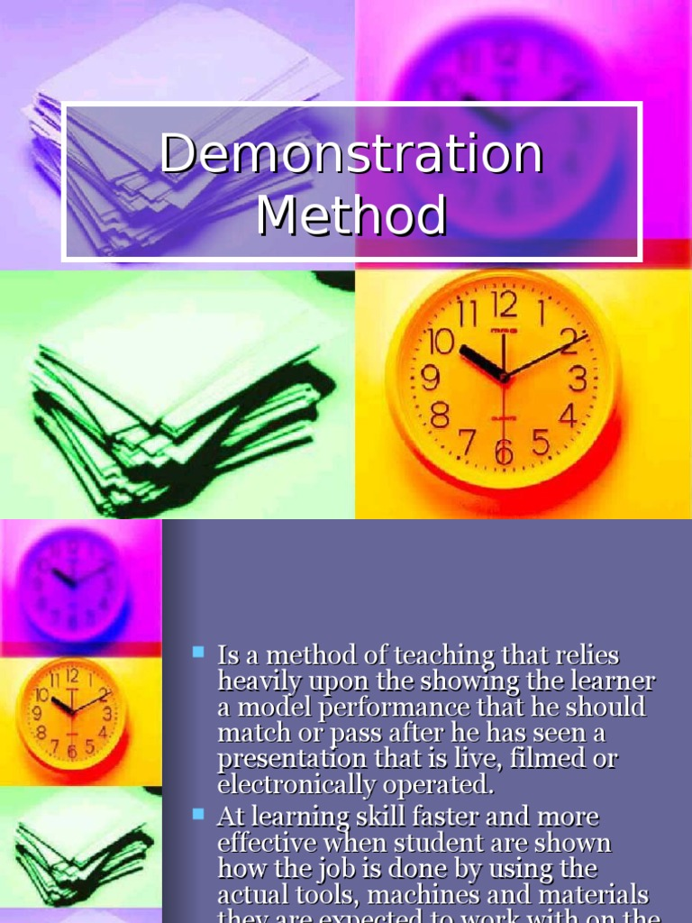 Teaching Strategies Iv Demonstration Method