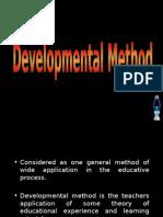 Teaching Strategies IV - Developmental Method