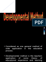 Teaching Strategies IV - Developmental Method