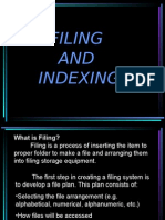 Filing and Indexing