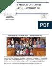 Jodo Mission Bulletin - September 2011