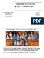 Jodo Mission Bulletin - September 2011