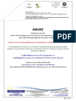 "Tematica admitere master ,,Auditul si magementul financiar al fondurilor europene"" 2011 FEAA"