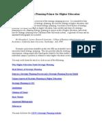 Strategic Planning Primer Higher Educ