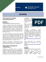 Burma Scholarships Ausaid