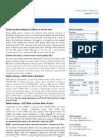 Financials Monthly Update - August 2011