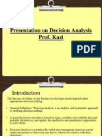 Presentation on Decision Analysis