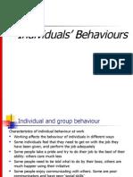 Individual's Behaviour