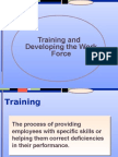 Taining and Develop Em En the Work Force