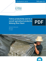 Fishery productivity and its contribution to overall agricultural production in the Lower Mekong River Basin