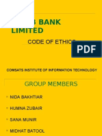 code of ethics - habib bank limited - pakistan