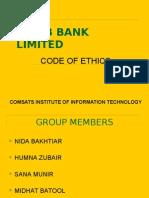 code of ethics - habib bank limited - pakistan
