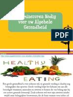Je Gezondheid en Aminozuren