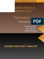 Public Policy Models