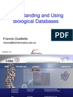 Understanding and Using Biological Databases