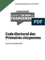 Code Electoral de La Primaire Citoyenne de 2011