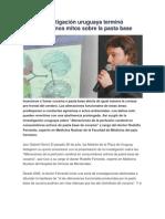 Investigación uruguaya terminó con mitos sobre la Pasta Base