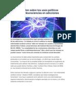 Advierten Sobre Neurociencias en Adicciones