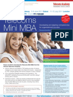 Telecoms Mini MBA Jun-Sept 2011