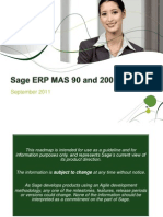 Sage ERP MAS 90 and 200 Roadmap September