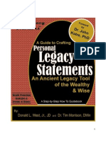 A Guide to Crafting Personal Legacy Statements - An Ancient Legacy Tool of the Wealthy & Wise