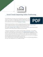 Social Trends in Online Fundraising