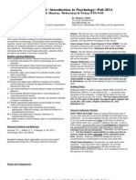 UT Dallas Syllabus for psy2301.hn1.11f taught by James Bartlett (jbartlet, sch052000)