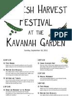 2011 Shoresh Harvest Festival Schedule