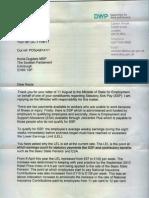 DWP and Statutory Sick Pay