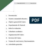 Proyecto Educativo Amor de Dios Primaria 08-09