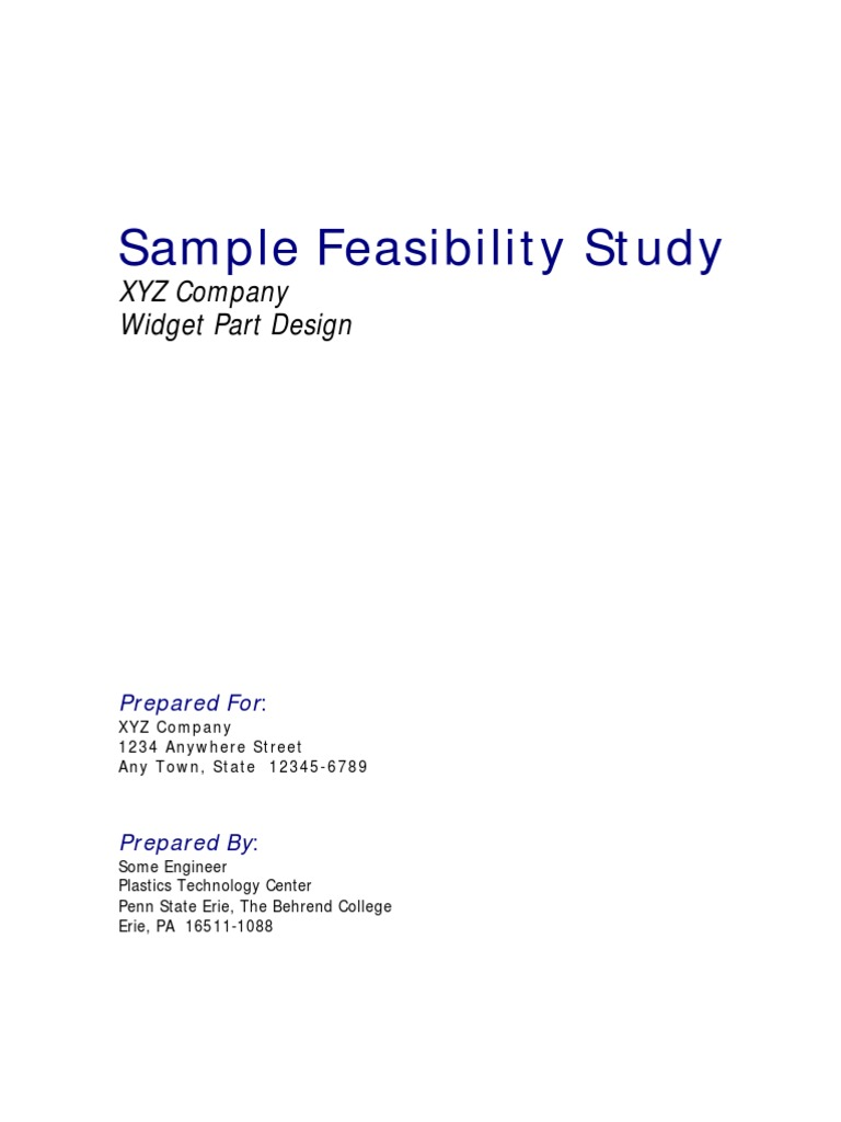 sample of feasibility study Business proposal and feasibility study business proposal and  i want a sample of a good business plan or proposal to be submitted to my.