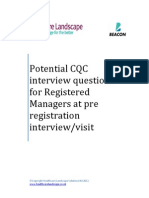 CQC Interview Questions for RM