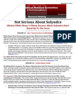 Not Serious About Solyndra