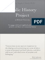 Public History Project Proposal Presentation