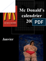 Calendrier McDonalds