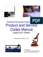 US Federal Government Product Service Code Manual