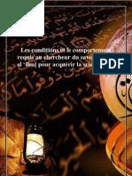 Condition Et Comportement Du Talib Al 3ilm