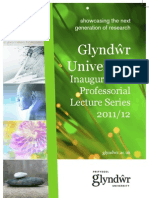 Glyndwr University Inaugural and Professorial Lecture Series 2011/12