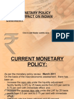 INDIA'S MONETARY POLICY